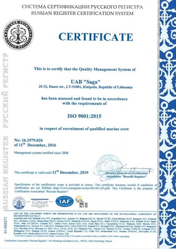 saga certification